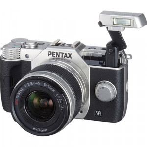 Pentax Q10 Compact Mirrorless Camera with 5-15mm Lens (Silver)