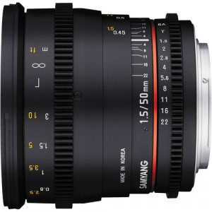 Samyang 50mm T1.5 VDSLR AS UMC Lens for Sony E Mount