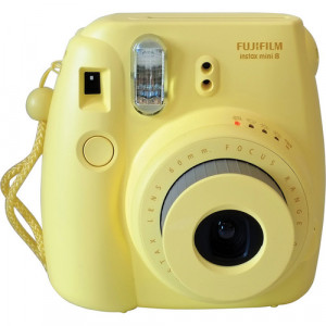Fujifilm instax mini 8 Instant Film Camera (Yellow) +10 films free