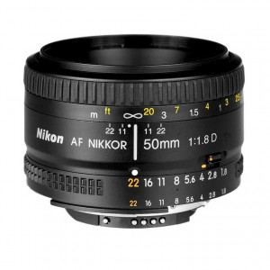 Nikon AF Nikkor 50mm f/1.8D Autofocus Lens
