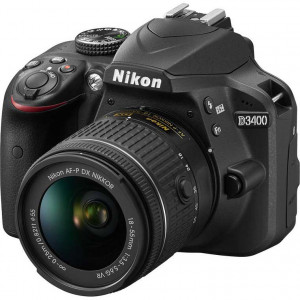 Nikon D3400 Digital SLR Camera with 18-55mm and AF-S DX NIKKOR 35mm f/1.8G Lens