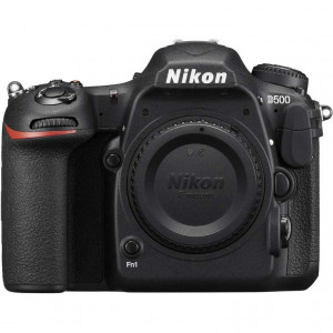 Nikon D500 Digital SLR Camera Body with 64 GB sandisk pro memory card.