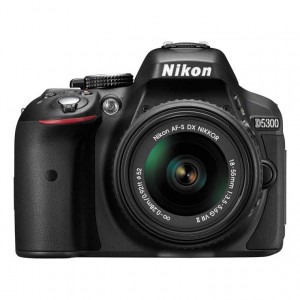 Nikon D5300 DSLR Camera with 18-55mm Lens (Black) .