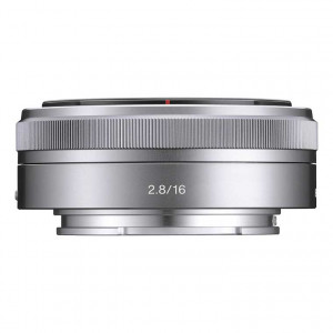 Sony E-Mount SEL16F28 16mm f/2.8 Wide-Angle Alpha E-Mount Lens (Silver)