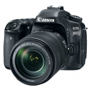 Canon EOS 80D Digital SLR Camera with EF-S 18-135mm f/3.5-5.6 IS USM Lens