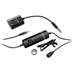 Audio-Technica Consumer ATR3350iS Omnidirectional Condenser Lavalier Microphone