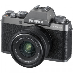 Fujifilm X-T100 Mirrorless Digital Camera with 15-45mm Lens (Silver)
