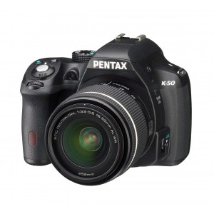 Pentax K-50 16 MP Digital SLR Camera Kit with DAL 18-55 mm WR f/3.5-5.6 and 50-200 mm WR Lenses (Black)