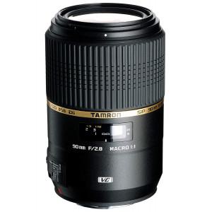 Tamron SP 90mm F/2.8 Di Macro 1:1 VC USD Macro Prime Lens with Hood for Canon DSLR Camera