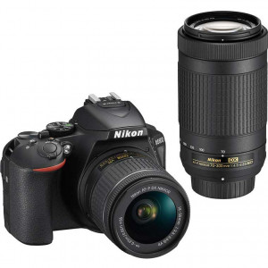 Nikon D5600 Digital SLR Camera with 18-55mm & 70-300mm Lenses (Black)