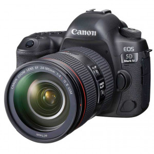 Canon EOS 5D Mark IV Digital SLR Camera with 24-105mm Lens(Free uv filter+lcd scratch guard+bg20)