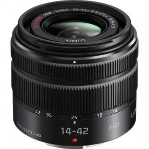 Panasonic Lumix G Vario 14-42mm f/3.5-5.6 II ASPH. MEGA O.I.S. Lens (Black)