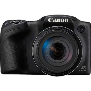 Canon PowerShot SX430 IS Digital Camera (Black)