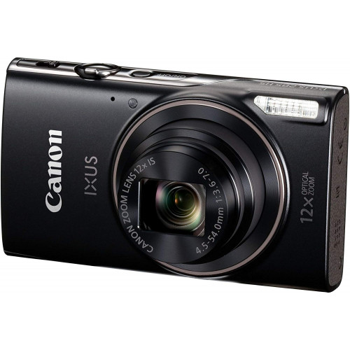 Canon Ixus 185 20mp Digital Camera With 8x Optical Zoom Black
